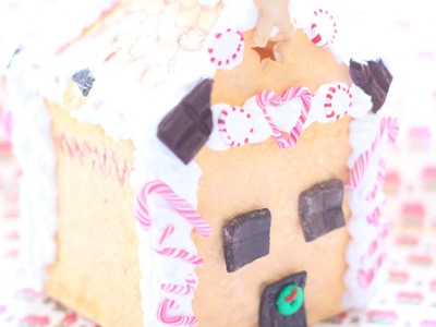 Christmas Project 2014: DIY Air Dry Clay Gingerbread House (Peppermints, Candy Canes and More!)