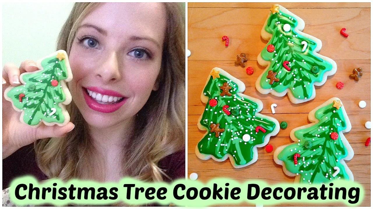 Christmas Tree Cookie Decorating - DIY Tutorial!