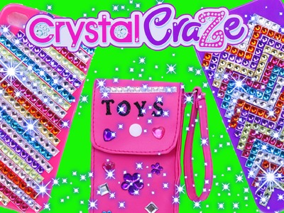Cra-Z-Art iPhone DIY Cell Phone Case Maker Bling Jewels Crystal Craze Girl Craft Toy DisneyCarToys