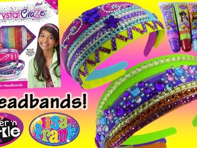 Cra-Z-Art Shimmer 'n Sparkle Crystal Craze DIY Gem Headbands! LISA FRANK Lip Gloss FUN