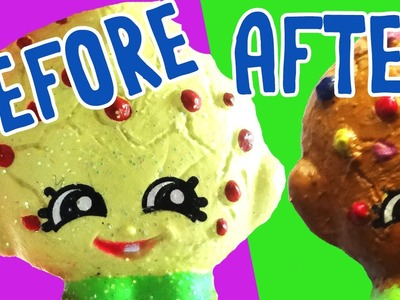 Custom Shopkins Ultra Rare KOOKY COOKIE! Transformed into an M&M Cookie! DIY Painted Shopkins