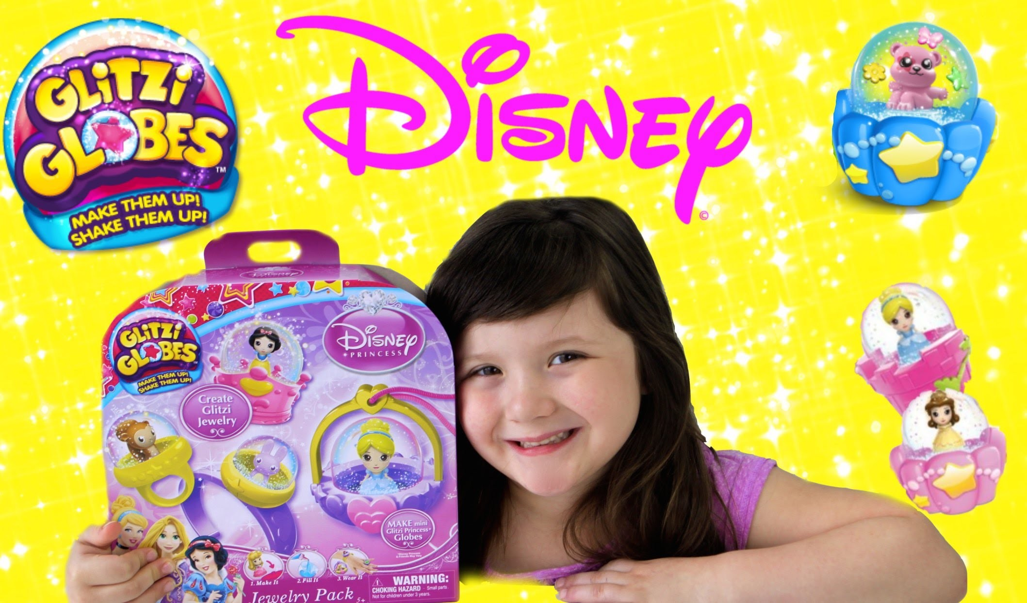 Disney Princess Glitzi Globes Jewelry Maker-DIY Glitzi Globes Princess Jewelry by MOOSE toys!
