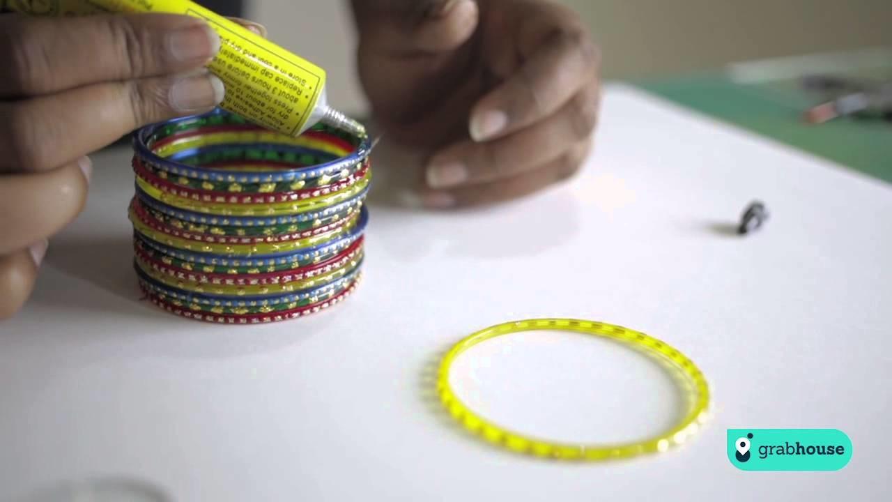 Diwali DIY- Bangle Candle Holders