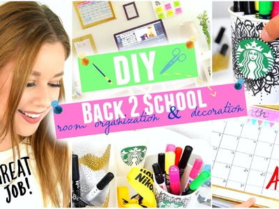 DIY BACK TO SCHOOL ROOM ORGANIZATION. DECORATION TUMBLR & PINTREST INSPIRED