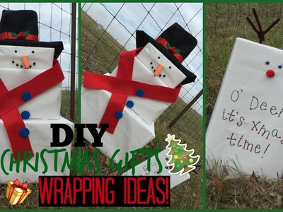 DIY Christmas Gift Wrapping Ideas: Snowman and Reindeer!