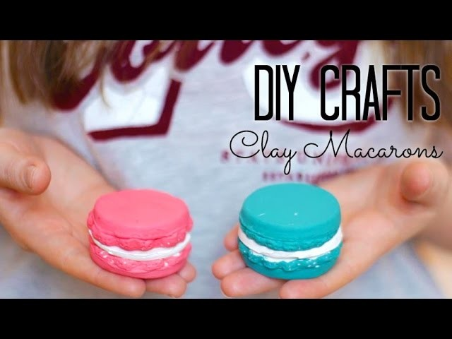 DIY Crafts: Modeling Clay Macaron - Room & Kitchen Decor