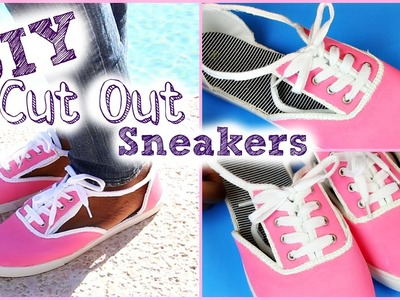 DIY Cut Out Sneakers | Valentine's Day 2015 | Tashalala