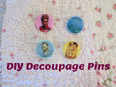 Diy decoupage pins
