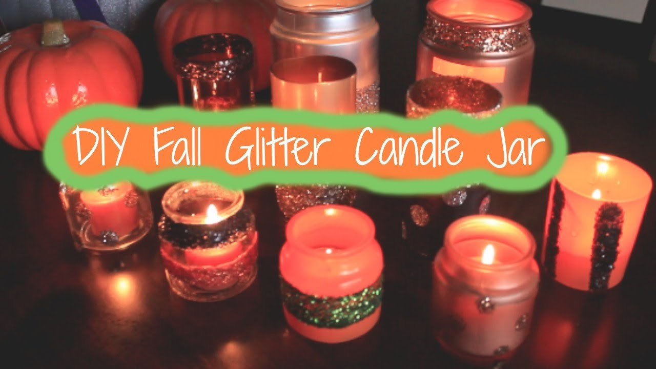 Diy Fall Glitter Candle Jars