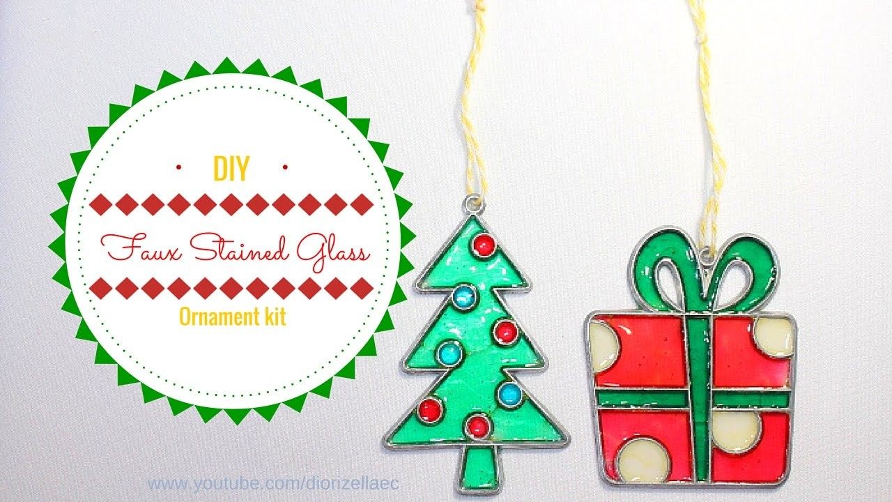 DIY Faux Stained Glass Ornament kit. Adorno en imitacion de Vitral by Diorizella Events and Crafts
