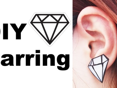 DIY Fun & Quirky Diamond Earring with shrink plastic