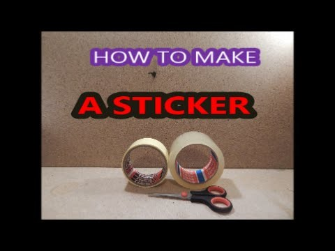 DIY How to make a sticker