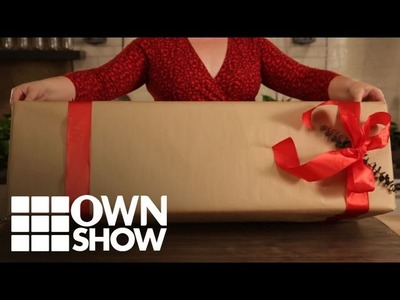 DIY: How to Wrap an Oversized Box | #OWNSHOW | Oprah Winfrey Network