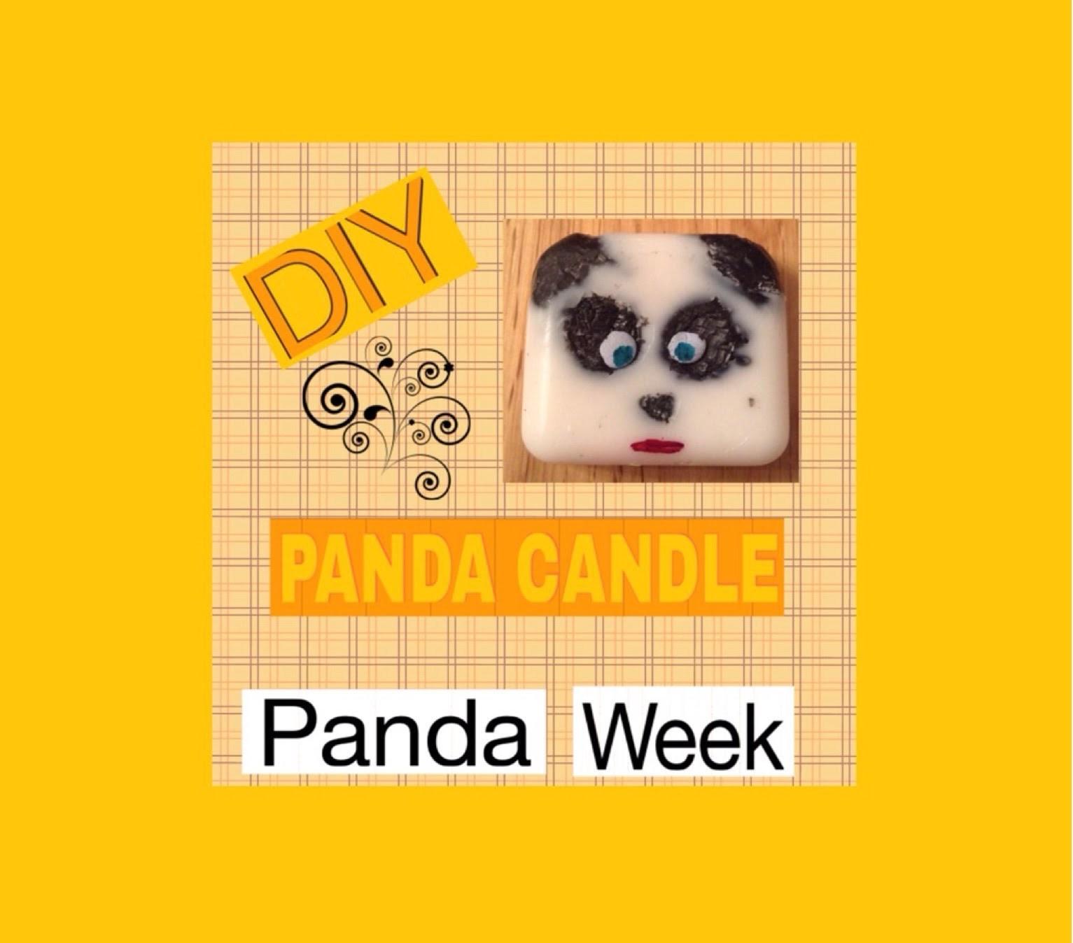 DIY Panda Candle (PANDA WEEK- Saturday)