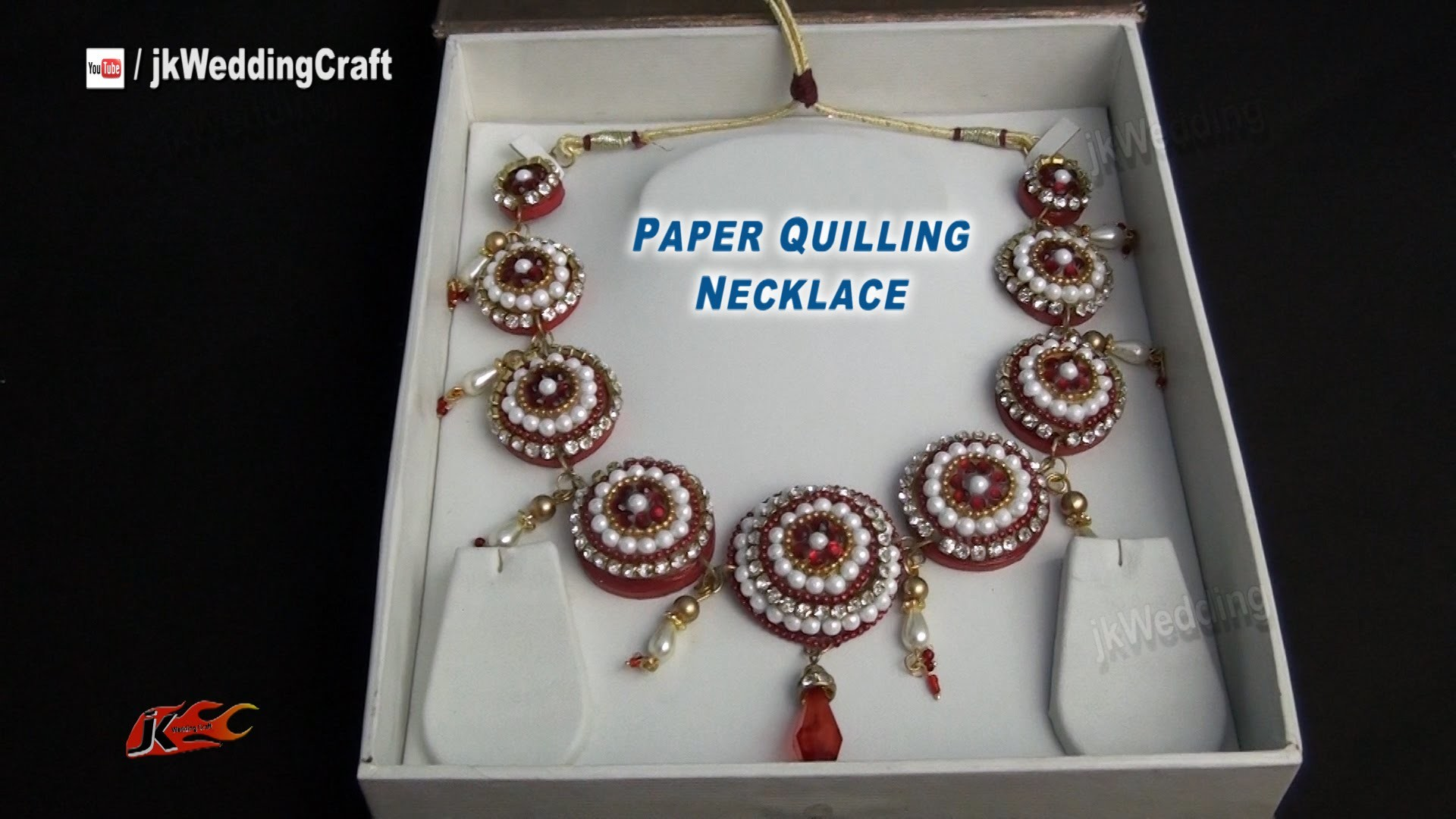 DIY Paper Quilling Bridal Necklace | How to make | JK Wedding Craft  050