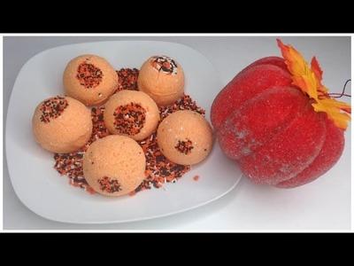 DIY Pumpkin Bath Bombs