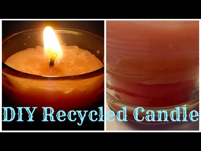 DIY recycled candle I How to reuse old wax