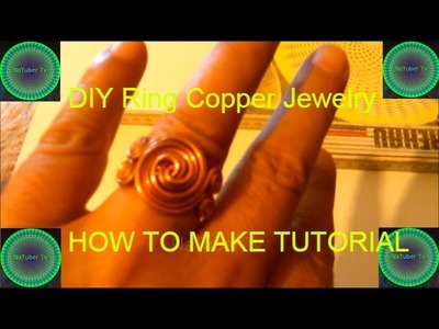 DIY Ring Copper Jewelry - HOW TO MAKE #2