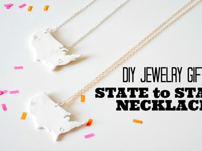 DIY State to State Necklace | Gift for Friends, Family, & Couples