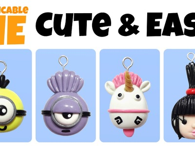 DIY Unicorn, Agnes & Minions | EASY Kawaii Polymer Clay Charms Tutorial |
