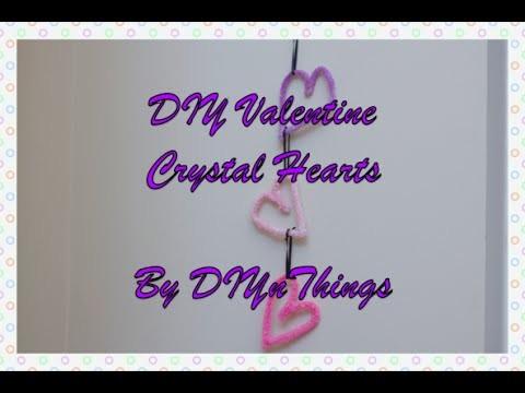 DIY Valentine Crystal Hearts
