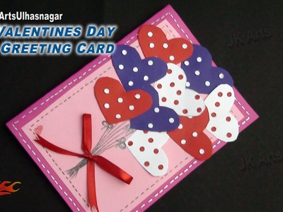 DIY Valentine's Day Greeting Card | How to make | JK Arts 851