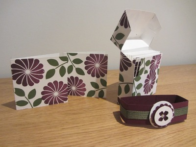 Flip top 3 x 3 card gift box tutorial, handmade with Crazy About You from Stampin' Up UK