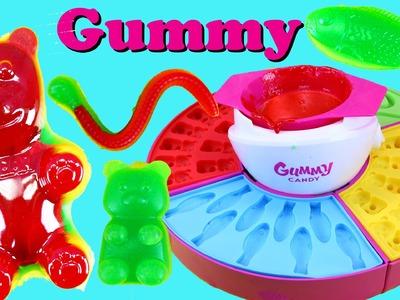Gummy Bear Candy Maker DIY Treats + World's Largest Giant Bear Gummy DisneyCarToys