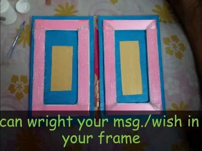 How to make a handmade photo frame cum greeting card in just one minute