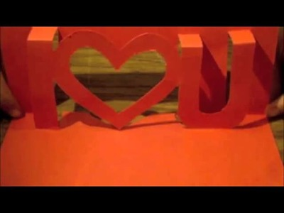How to make a Kirigami i ❤ u card   Love Letter Handmade gifts for boyfriend Girlfriend