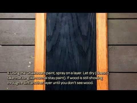 Make a Chalkboard Dinner Menu Sign - DIY Home - Guidecentral