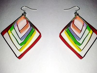 Multi color Quilling earrings quilling papers earring | Handmade Earrings