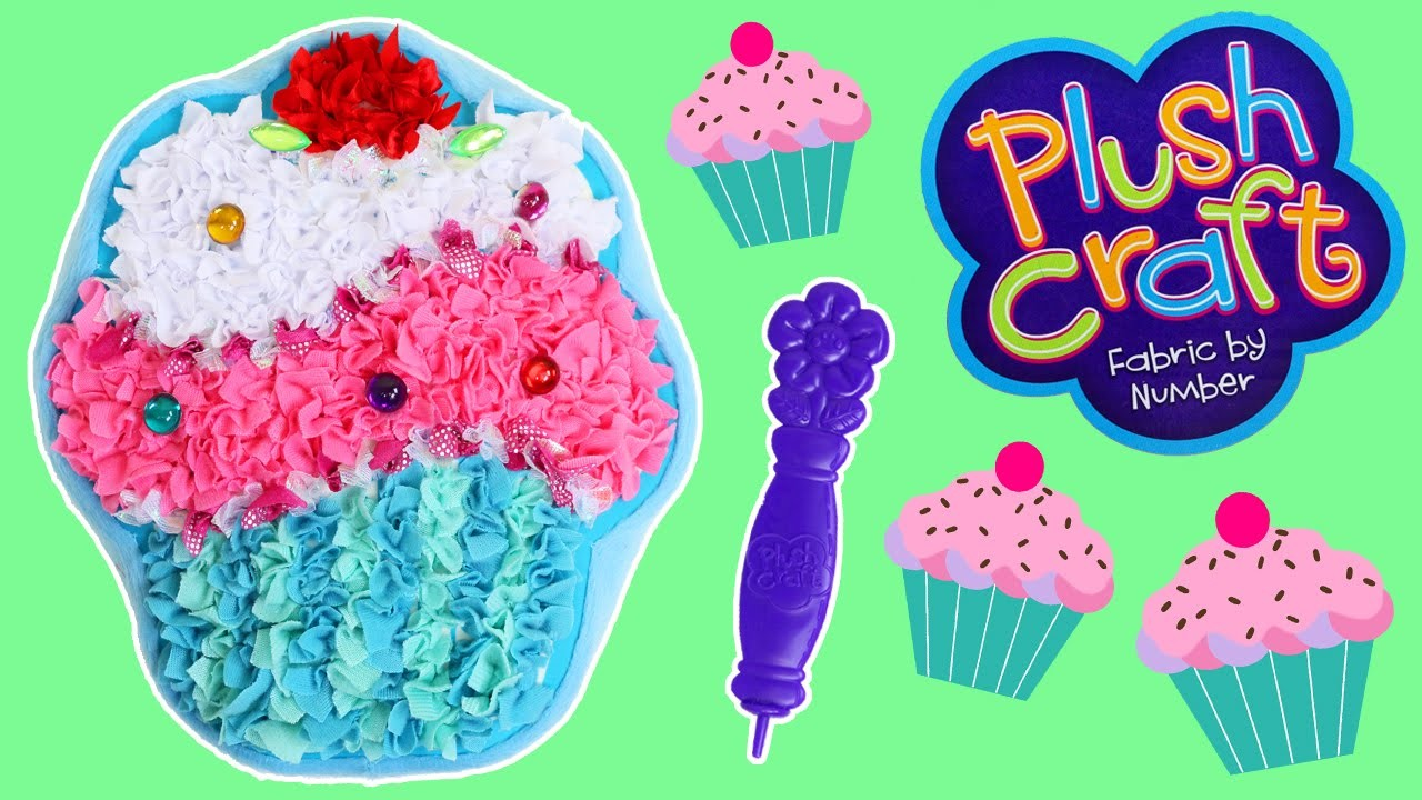 Plush Craft Cupcake Pillow Fabric by Number DIY Arts and Crafts!