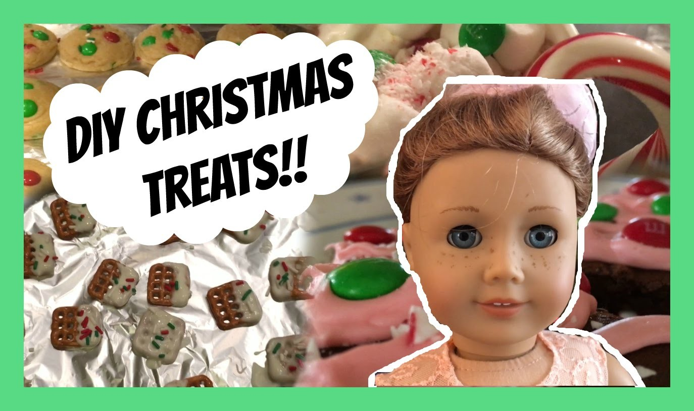 The American Girl Doll Cooking Show | DIY Christmas Treats
