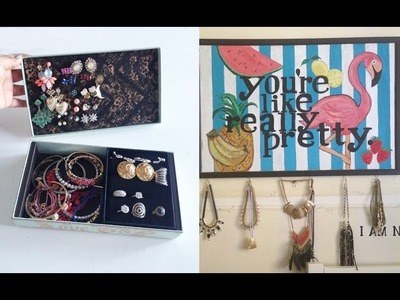 WHATDAYMADE DIY: Jewelry Box Organizer and Necklace Holder