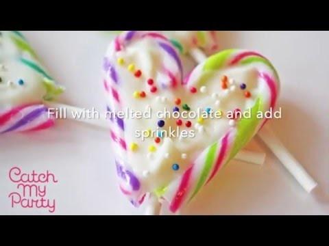 Candy Cane Lollipop DIY