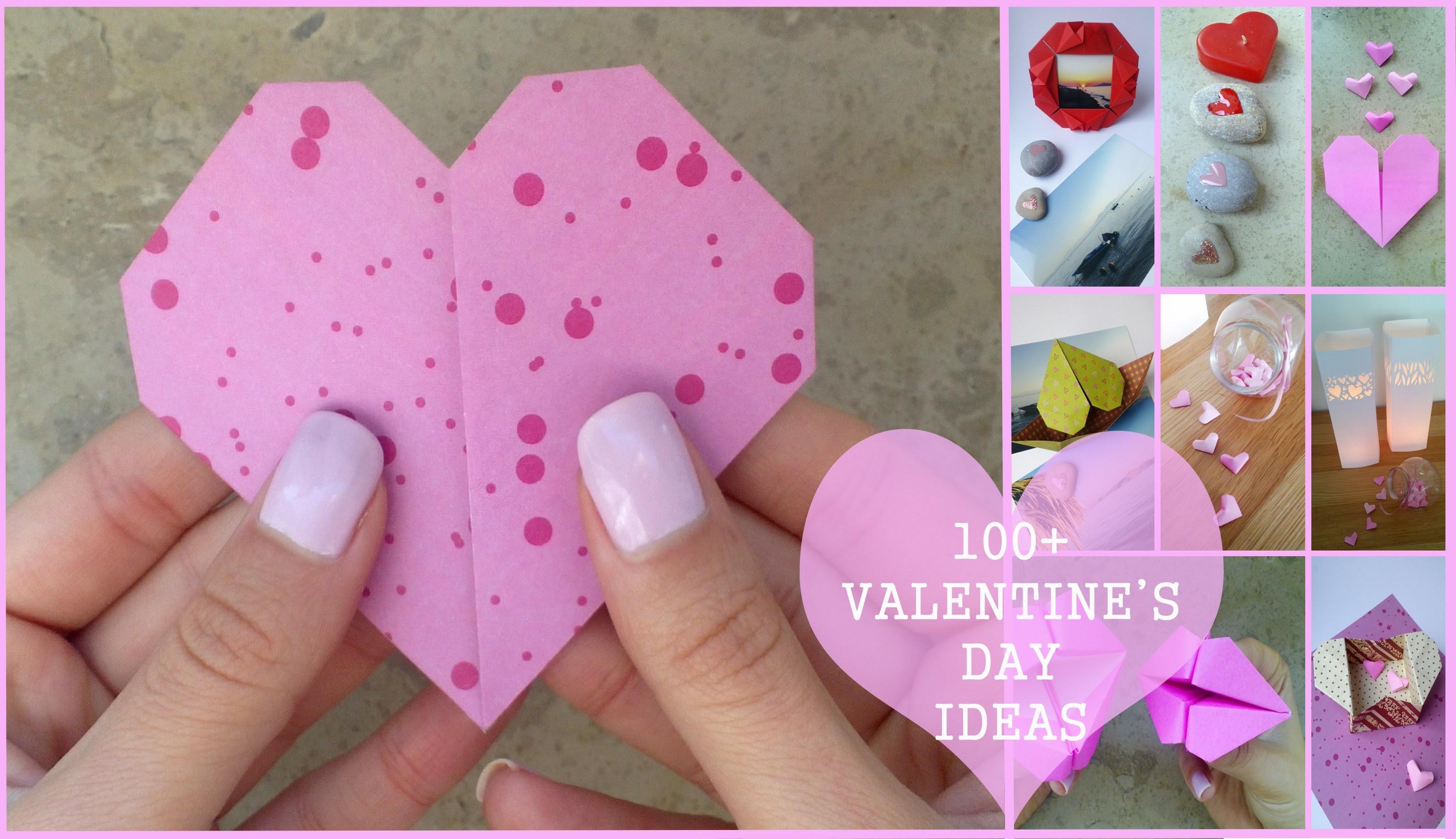 DIY 100+ VALENTINE'S DAY IDEAS - #10 Origami heart (3 steps).