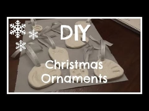 DIY: Baby Imprint Christmas Ornaments!