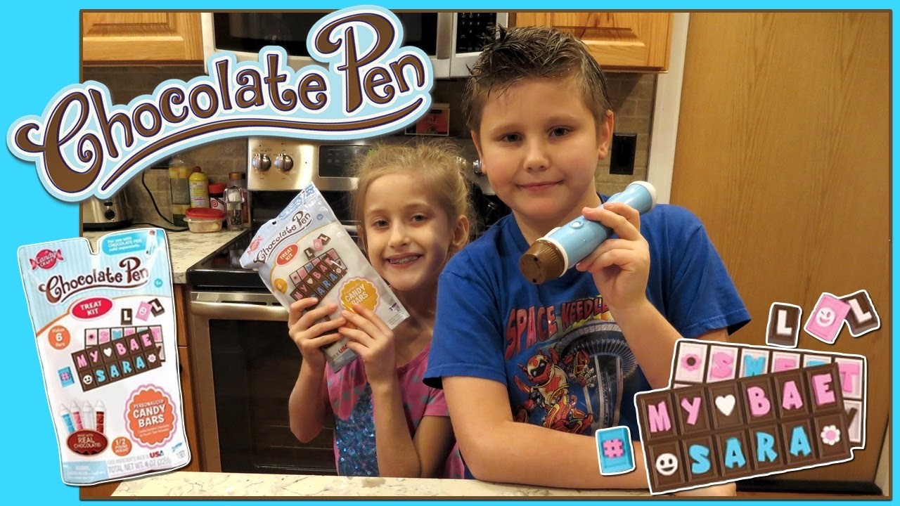 DIY Candy Bar Treat Set With Chocolate Pen | The Stashies