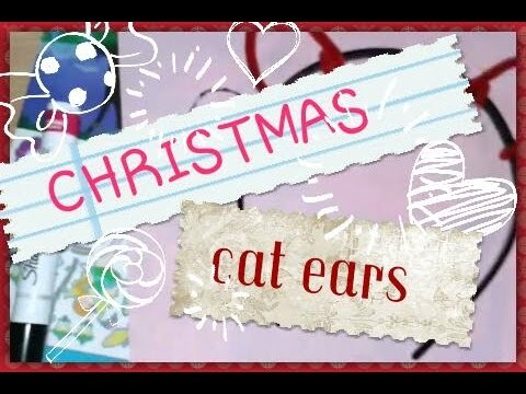 DIY Christmas cat ears