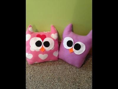 DIY: Cute Owl Pillows