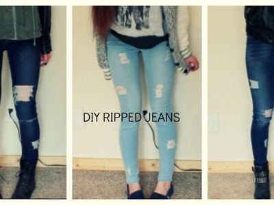 DIY distressed and ripped jeans