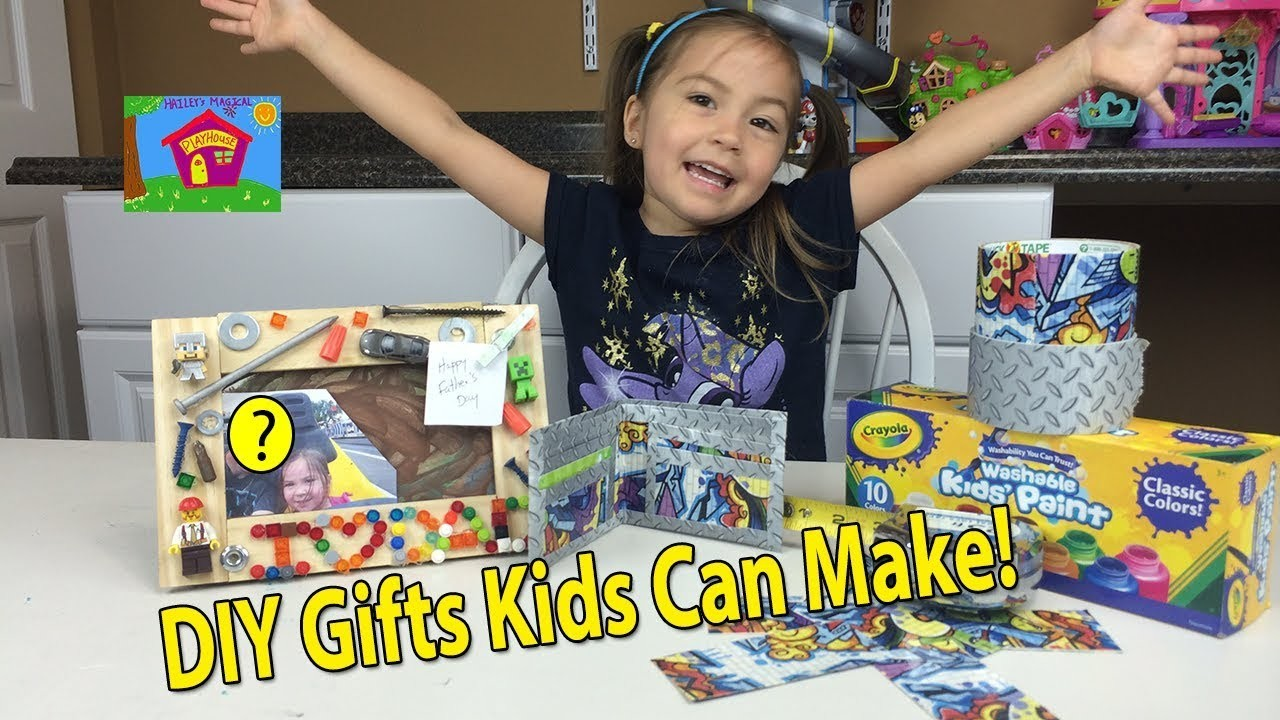 DIY GIFTS KIDS CAN MAKE for Father's Day Surprise Birthdays Christmas How to Make a Duct Tape Wallet