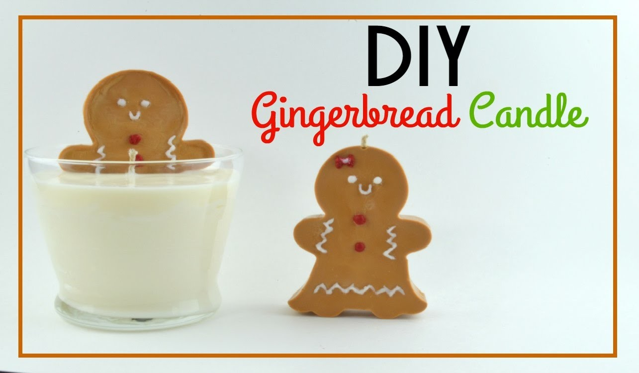 DIY Gingerbread Candle (Cheap & Easy Gift Idea)!