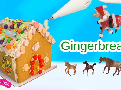 DIY Gingerbread House with Candy & Frosting Do It Yourself Christmas Holiday Video