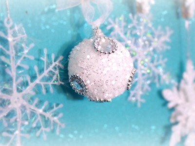 DIY Holiday Decorations: Blue, White, Silver & a bit of red