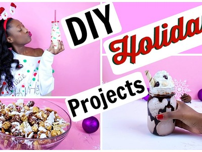 DIY Holiday Projects! Light Up Ugly Christmas Sweater, Drinks & Treats! | Tashalala