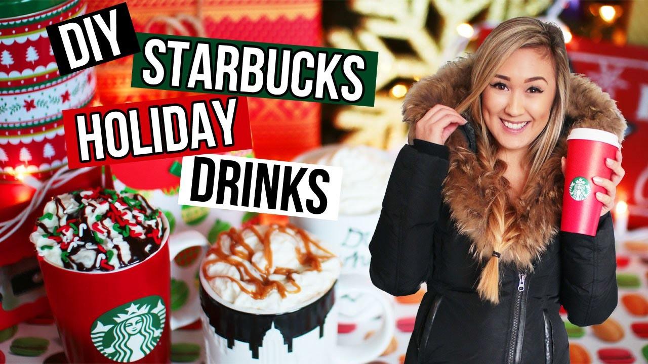 DIY Holiday Starbucks Drinks: Easy Recipes for Christmas Drinks | LaurDIY