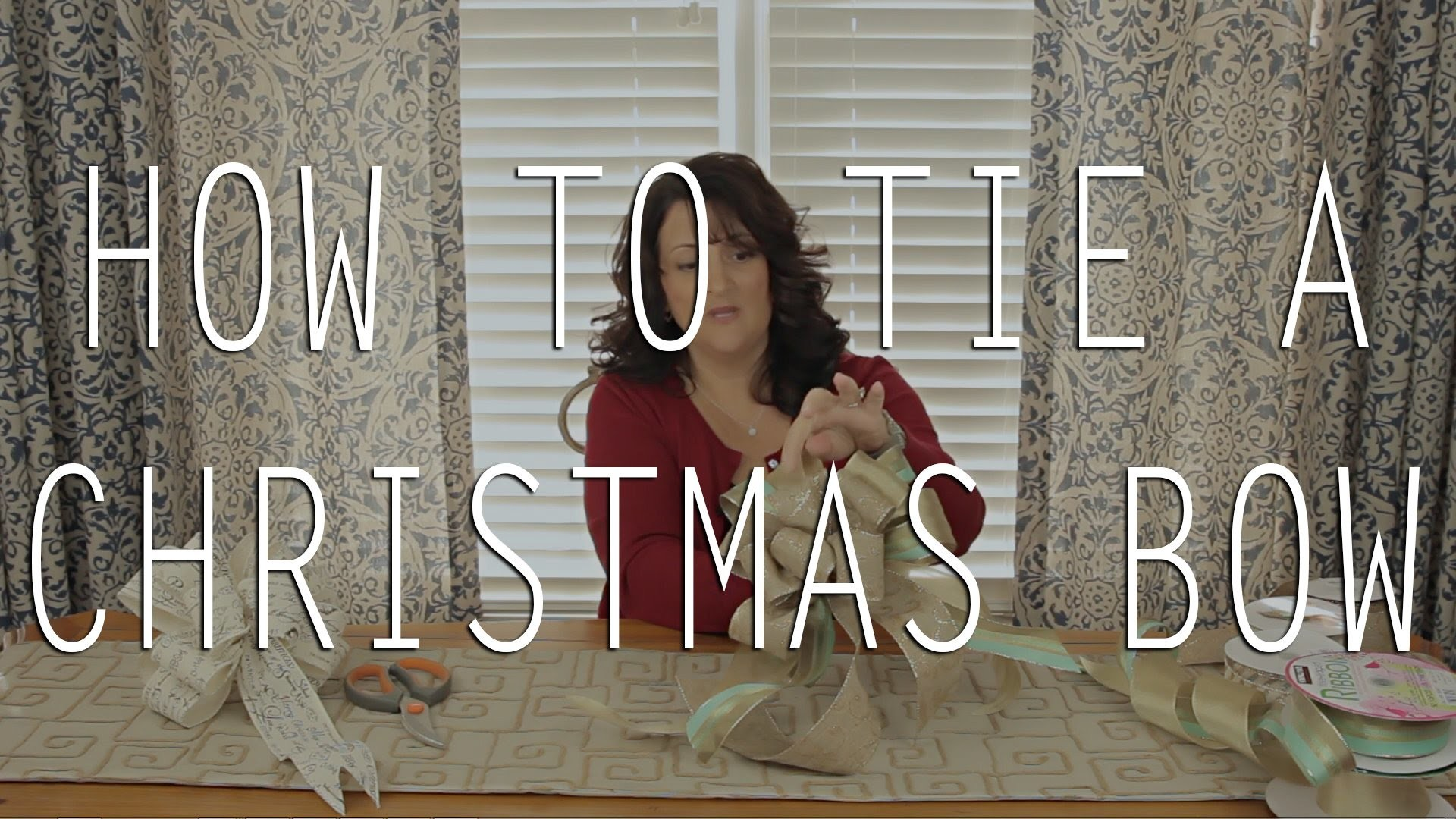DIY - How to Tie a Christmas Bow Tutorial