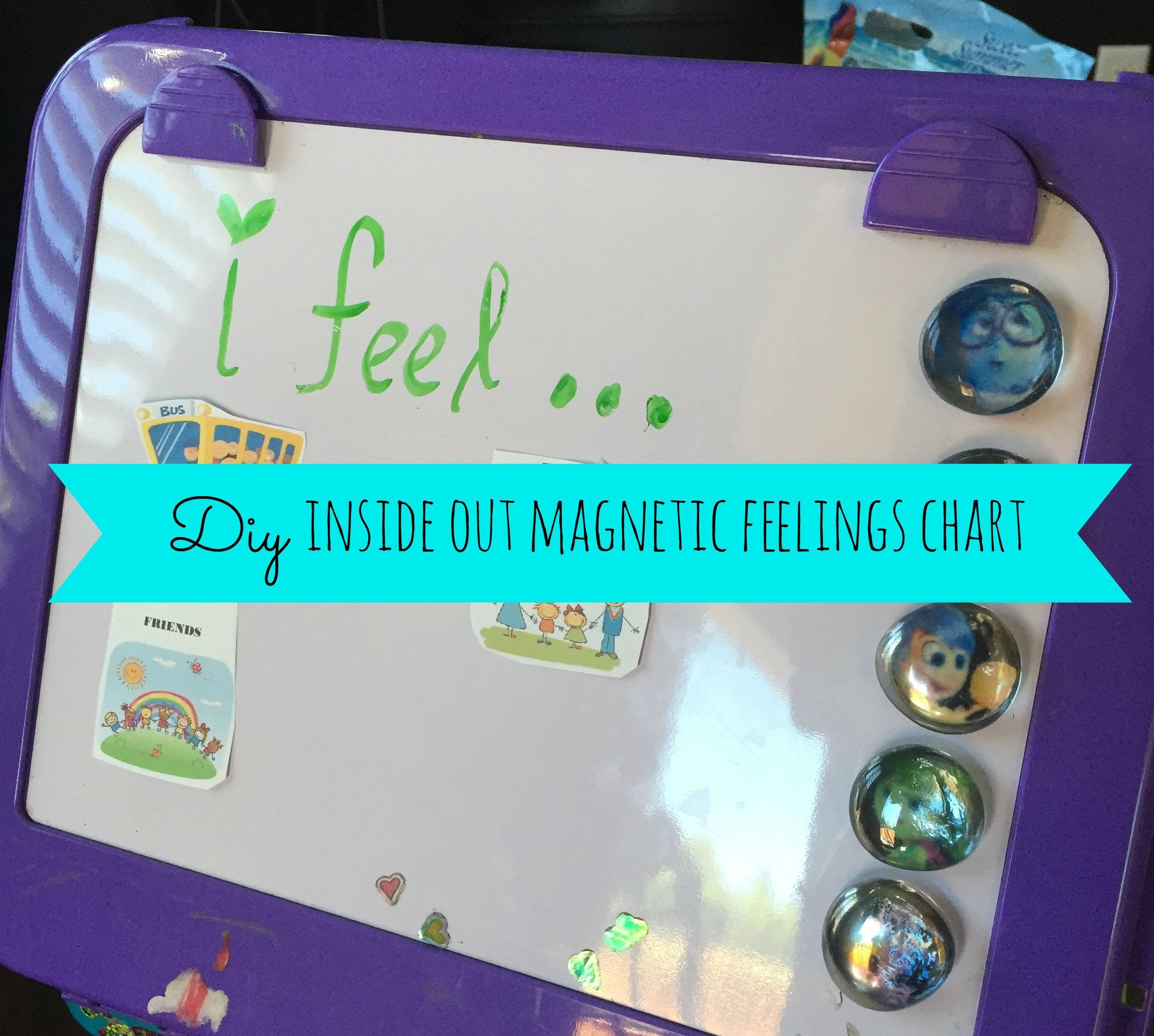 DIY Inside Out Magnetic Feelings Chart